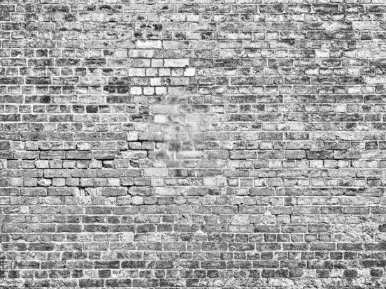 Eine graue Mauer