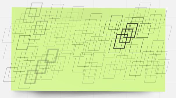 Einige Rechtecke vor gelblich-grünem Hintergrund versuchen gelebte Erfahrung mit Motivationsstrukturen darzustellen.